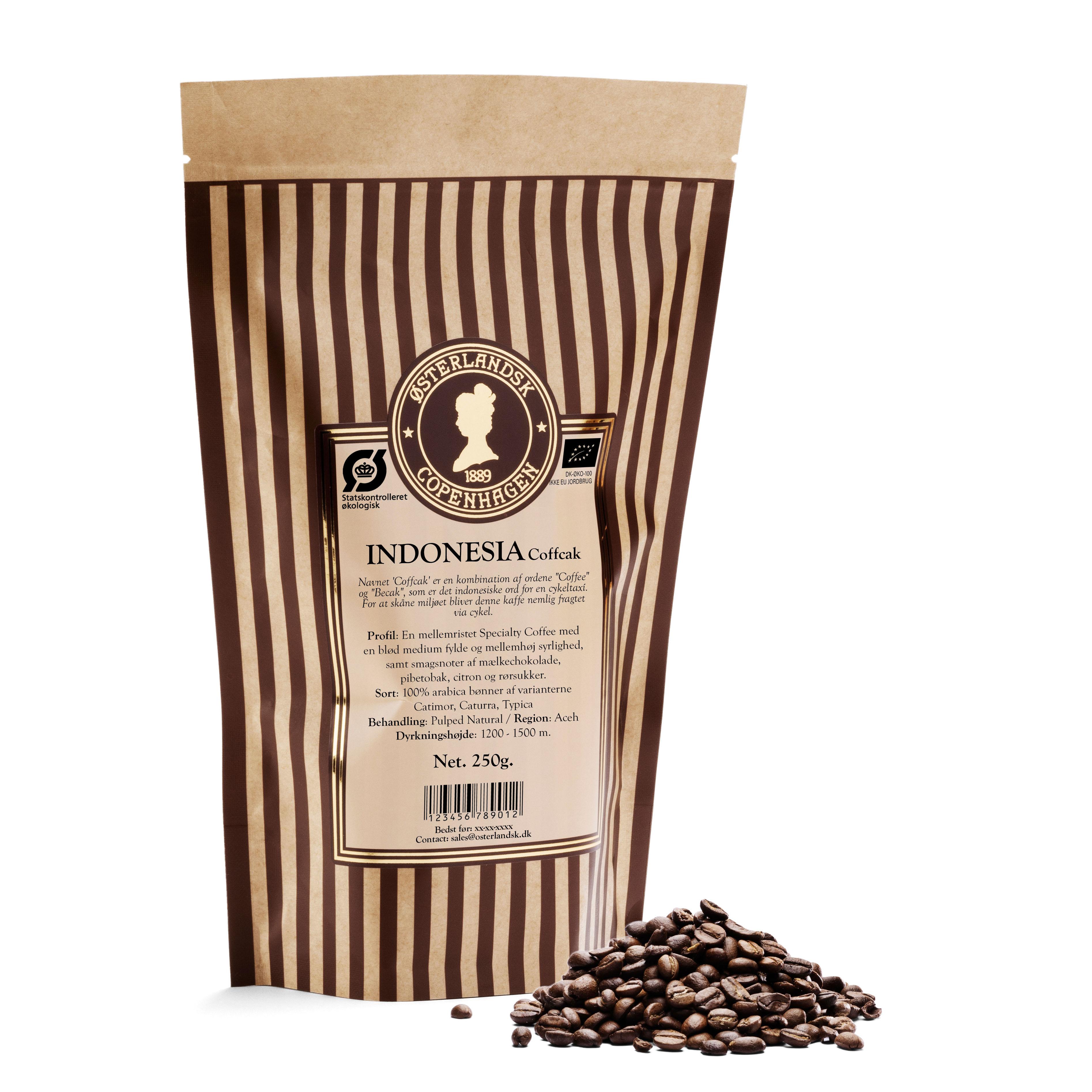 Indonesia Sumatra kaffe 250g, økologisk