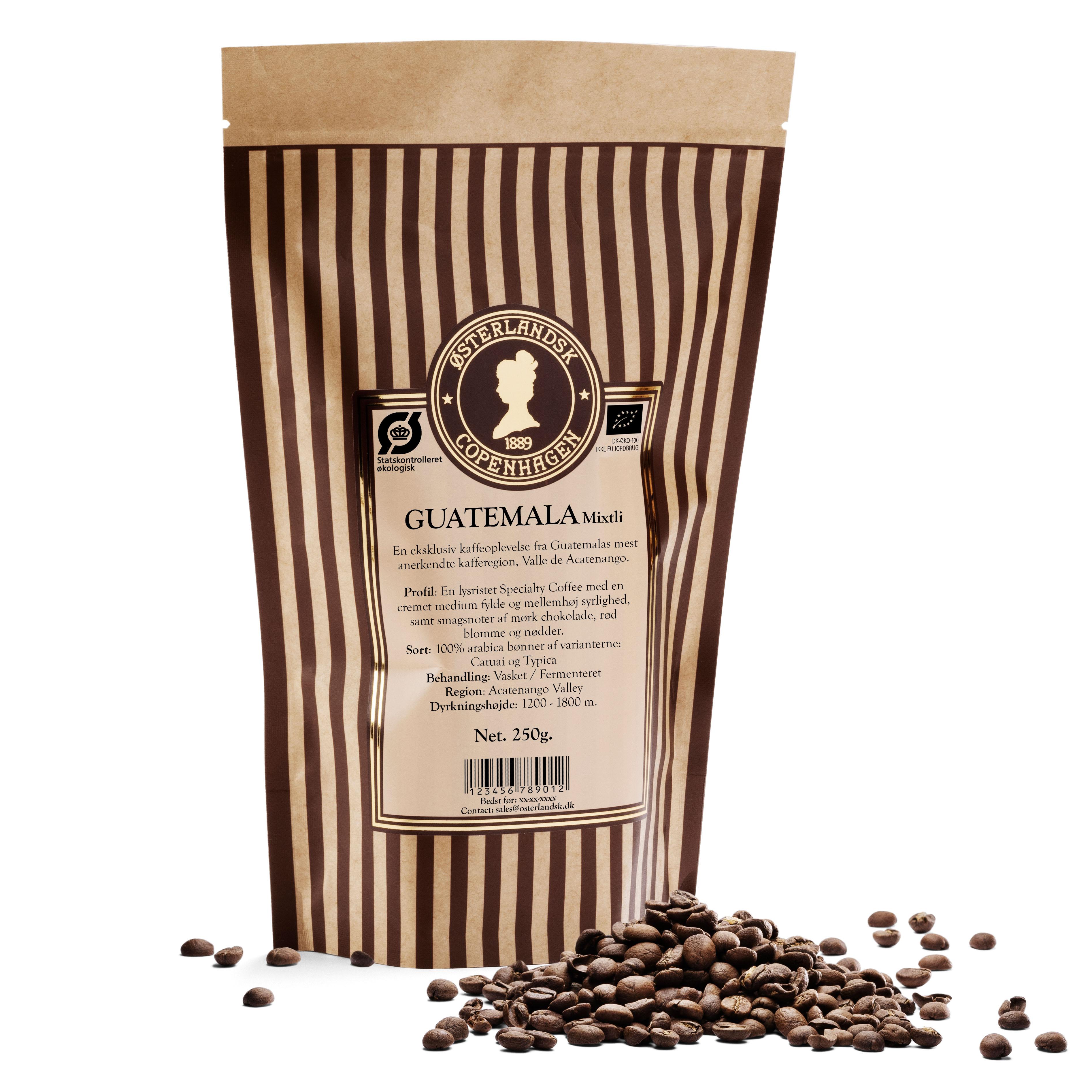 Guatemala Finca Ceylan kaffe 250g, økologisk