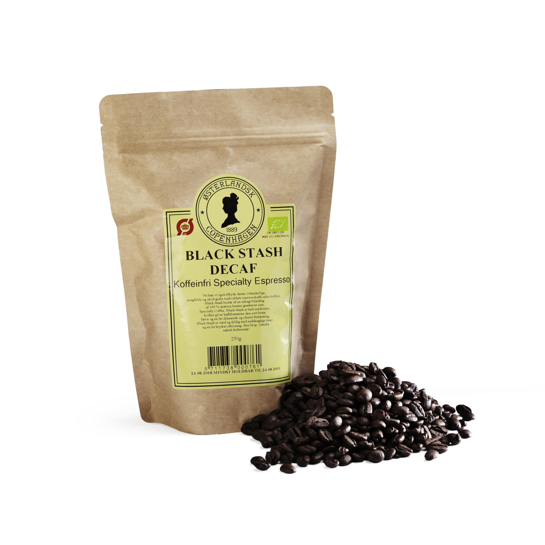 Black Stash Decaf kaffe 250g, Økologisk