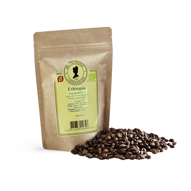 Ethiopian Yirgacheffe kaffe Organic 250g