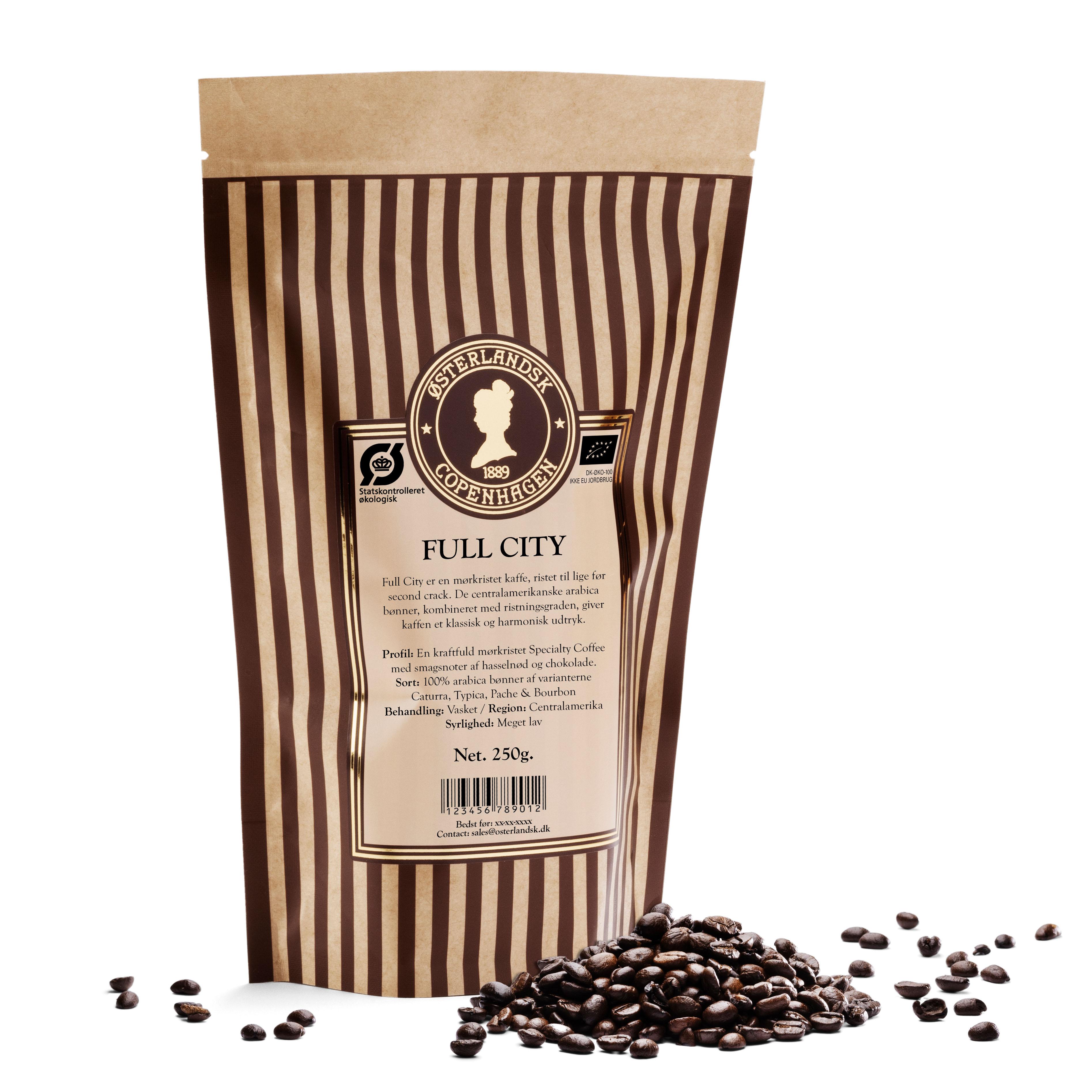 Full City Organic kaffe 250g, økologisk