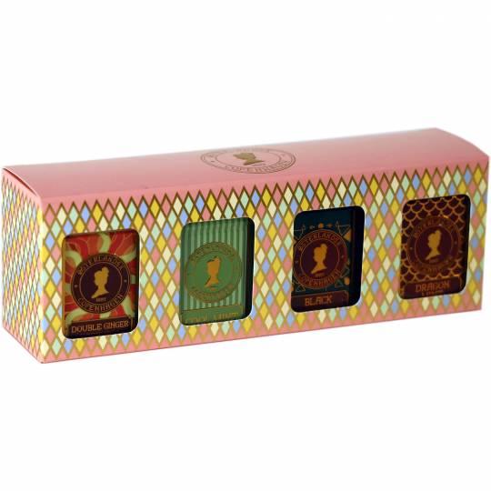 Gaveæske med 4 dåser te - Urte Te