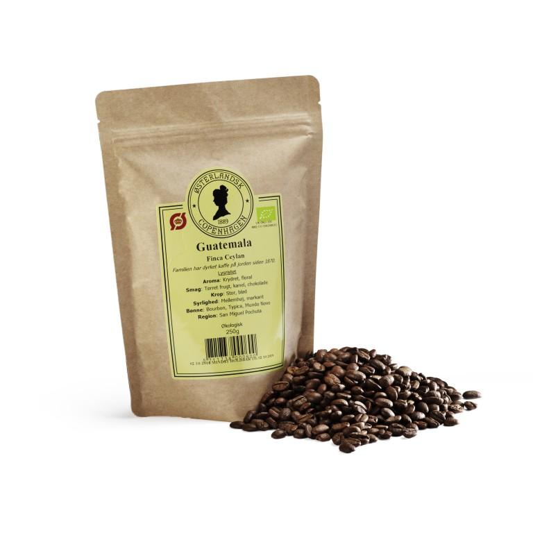 Guatemala Finca Burbon kaffe 250g, økologisk