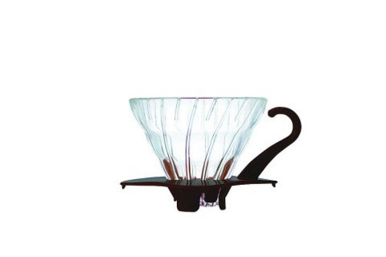 Hario 01 Dripper V60 glas m. sort bund