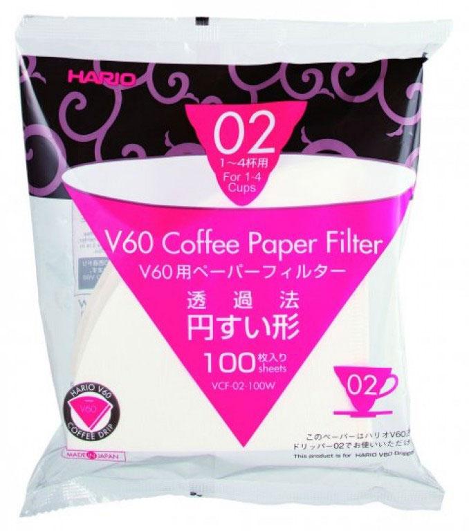 Hario Paper Filter 02 - 100 pcs.