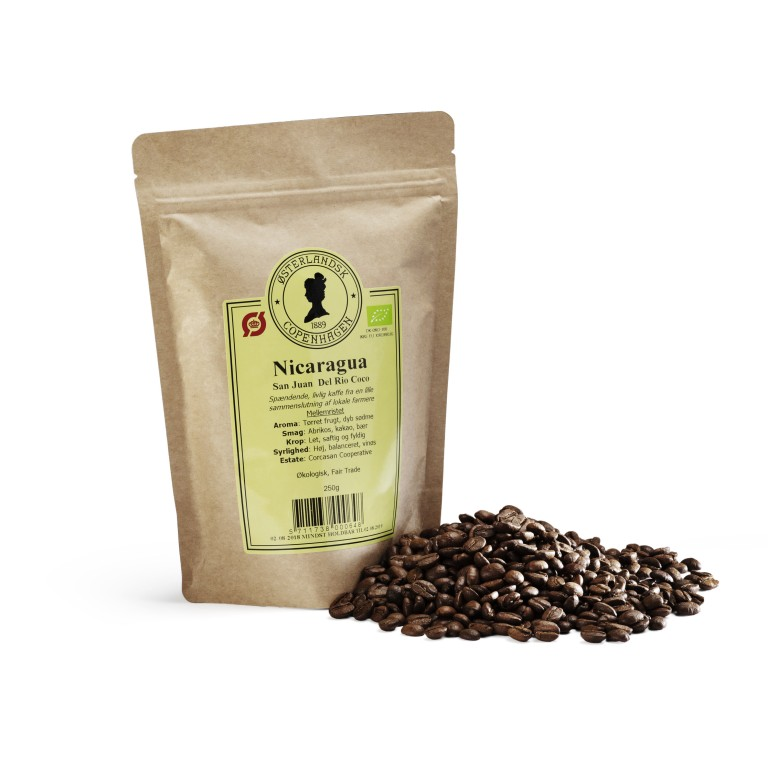 Nicaragua San Juan kaffe 250g, Økologisk